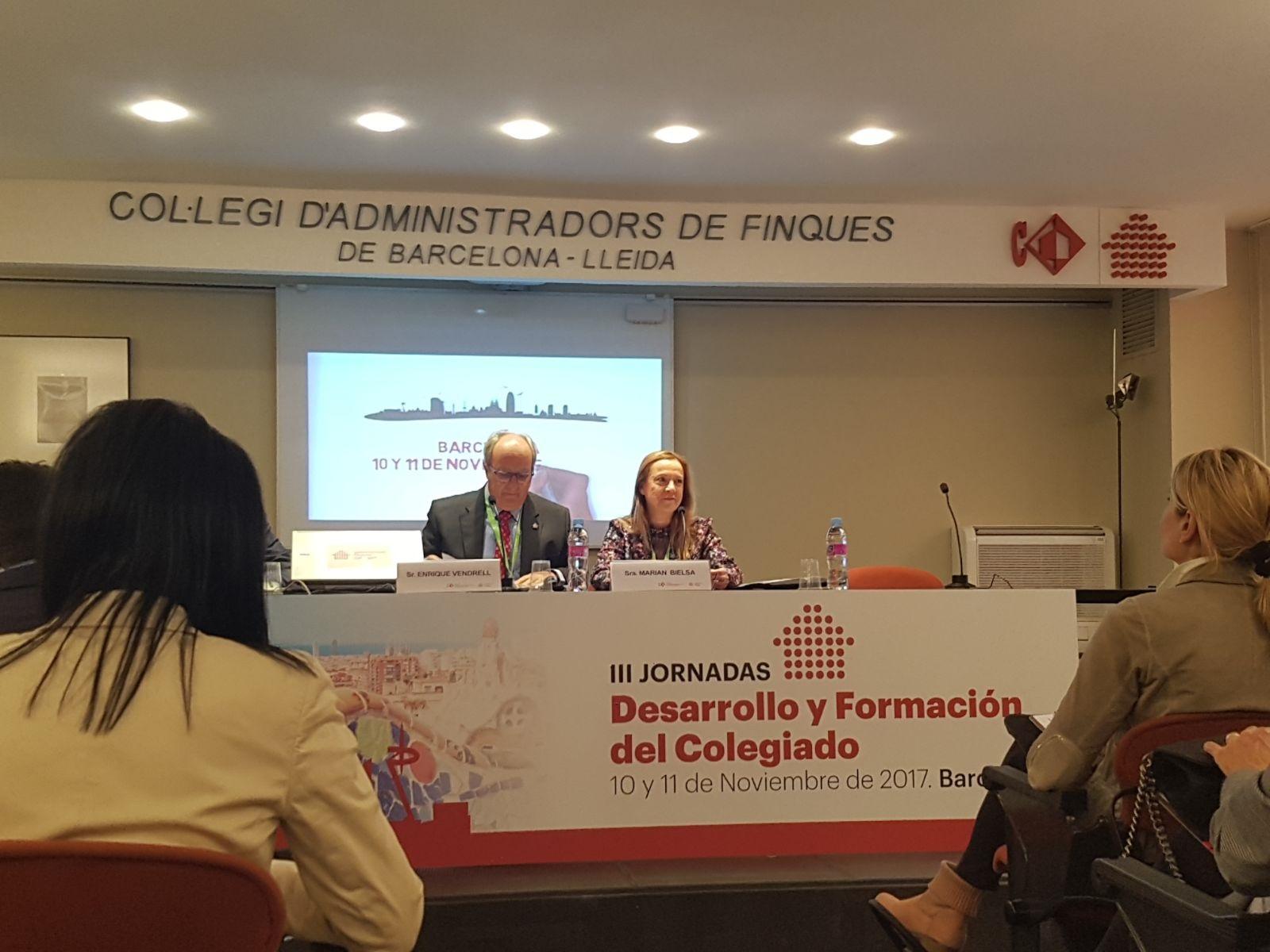 El coaf huelva presente en las jornadas desarrollo y - Colegio administradores barcelona ...