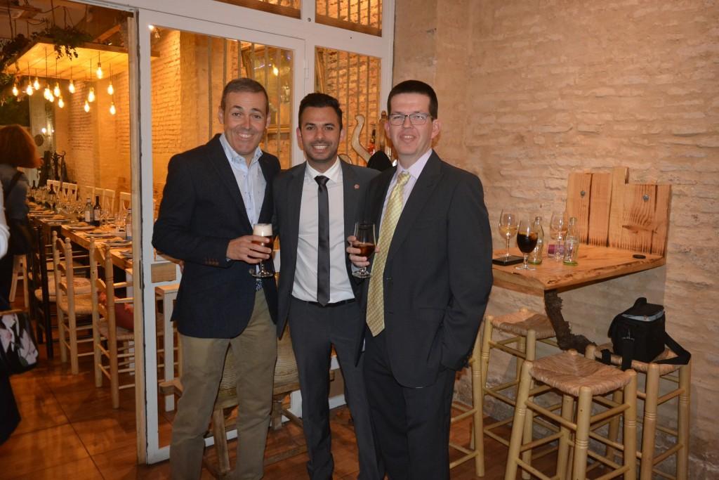 Sergio López, José A. Oria y Alejandro Chamorro