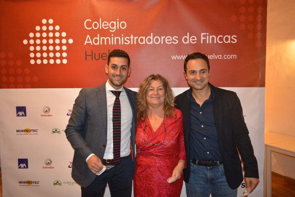 Alberto Santana, Rocío Navarro y Rafael Galindo