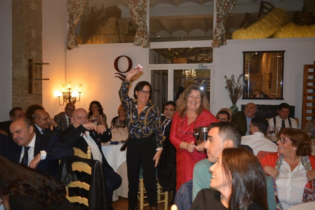 Rocío Navarro, durante la celebración del sorteo