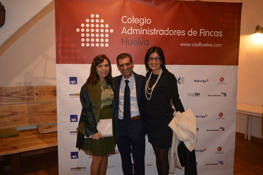 Esposa de Salvador Díez, David Toscano y Estíbaliz Ibeas