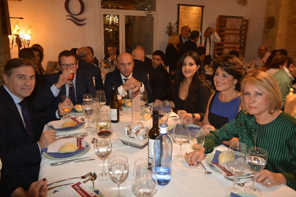José Feria (CAF Sevilla), Patricia Muñoz Antonio Lasso (CAF Granada), Mercedes Romero (CAF Córdoba) y acompañantes