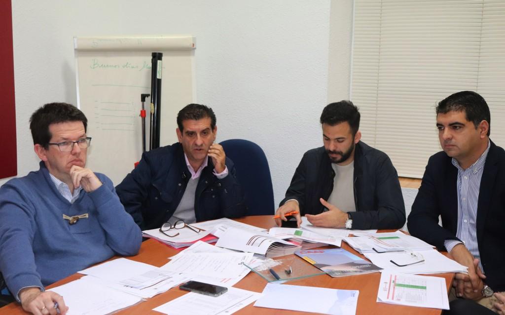 Alejandro Chamorro, David Toscano, José Antonio Oria y Diego Luis Sánchez.