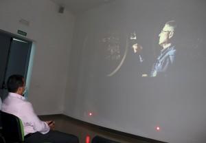 Audiovisual explicativo en el Centro del vino.